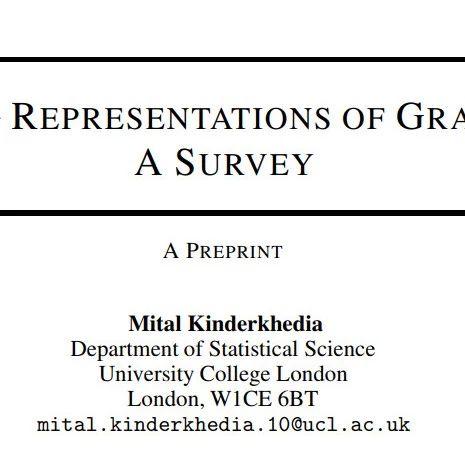 图数据表示学习综述论文