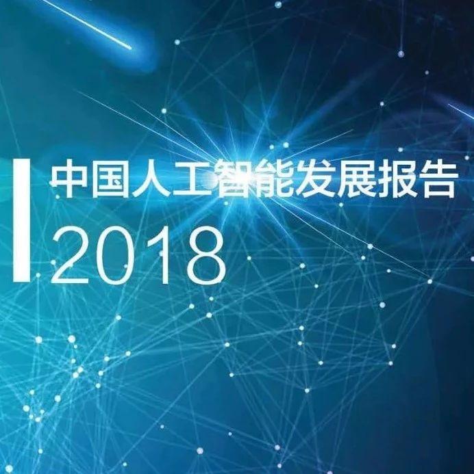 《中国人工智能发展报告2018》(附PDF下载)