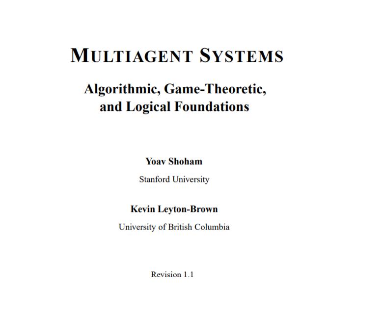 经典书《斯坦福大学-多智能体系统》532页pdf