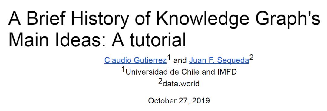 知识图谱简史:从1950到2019