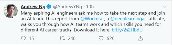吴恩达推荐!22页「AI职业生涯发展正规之道」秘籍,让你不被AI失业与共建一个Work的AI团队