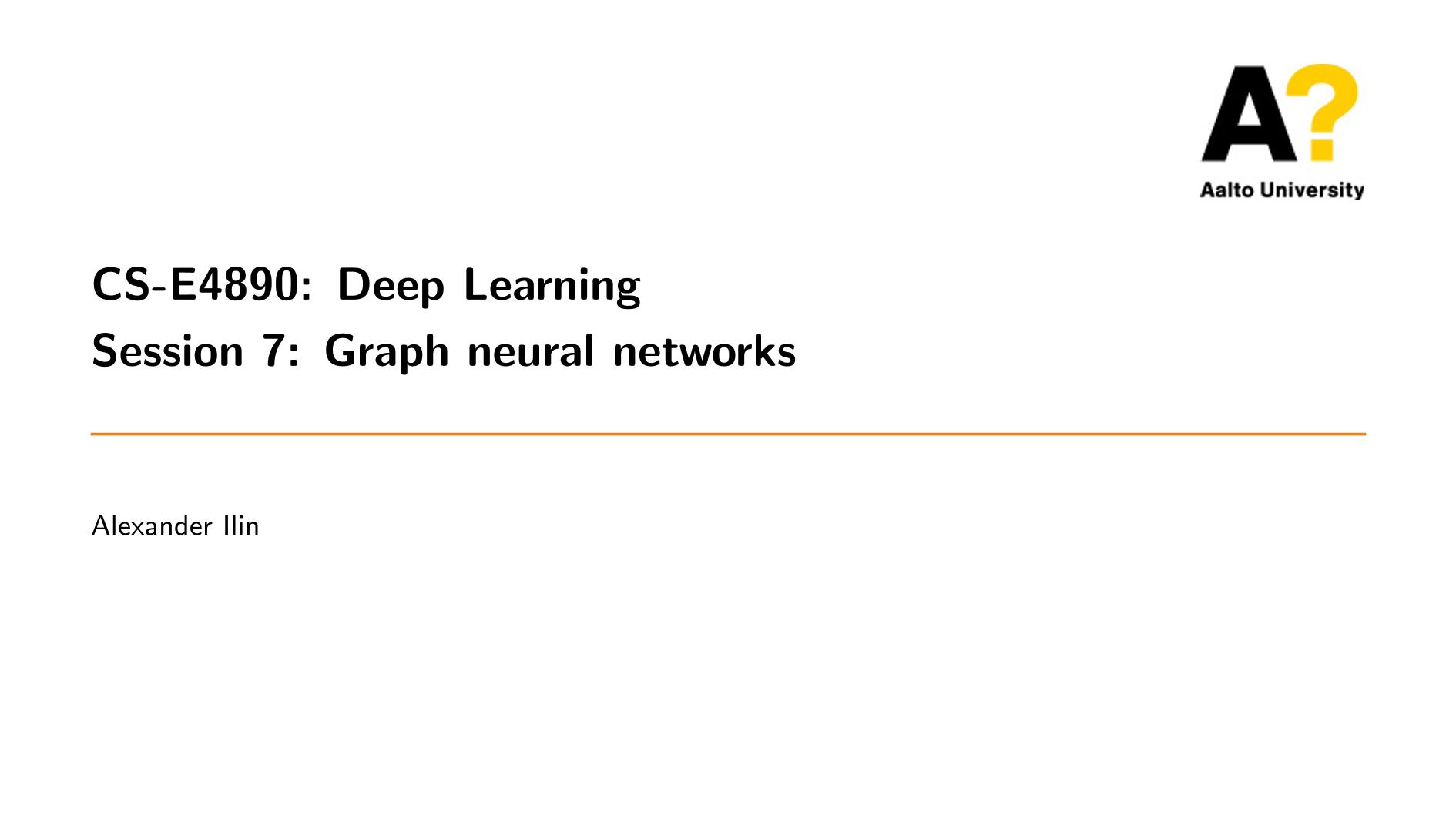 【阿尔托大学】图神经网络,Graph Neural Networks,附60页ppt